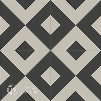 Gạch bông CTS 115.4(13-27) - 4 viên - Encaustic cement tile CTS 115.4(13-27)-4 tiles