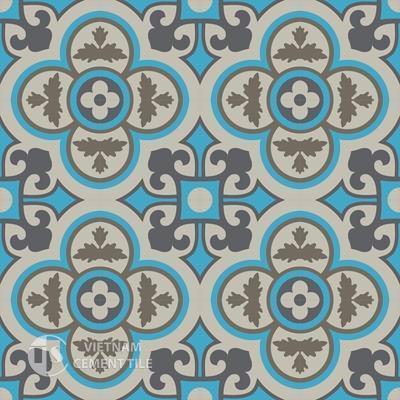Gạch bông CTS 129.4(16-27-28-32) - 16 viên - Encaustic cement tile CTS 129.4(16-27-28-32)-16 tiles