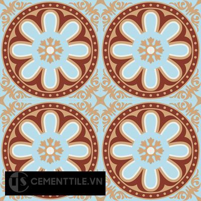 Gạch bông CTS 155.1(2-4-44-62) - 16 viên - Encaustic cement tile CTS 155.1(2-4-44-62)-16 tiles