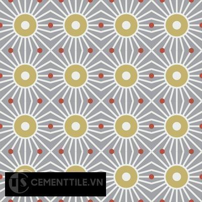 Gạch bông CTS 155.1(4-5-129)- 16 viên - Encaustic cement tile CTS 155.1(4-5-129)-16 tiles