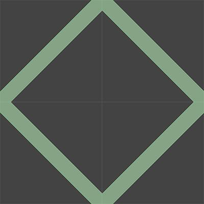 Gạch bông CTS 156.1(7-15) - 4 viên - Encaustic cement tile CTS 156.1(7-15) - 4 tiles