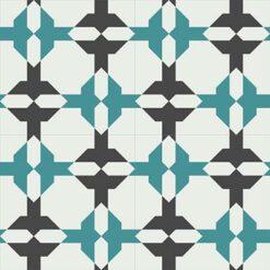 Gạch bông CTS 158.1(4-13-148)-4 viên - Encaustic cement tile CTS 158.1(4-13-148)-4 tiles
