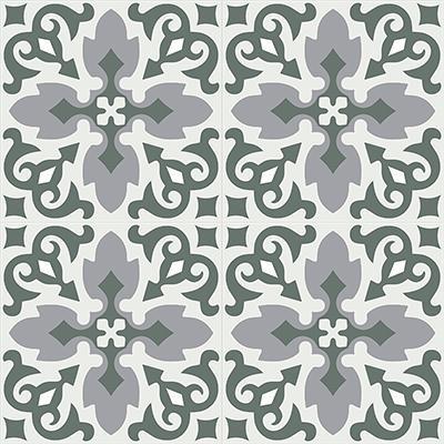 Gạch bông CTS 18.11(3-4-9) - 4 viên - Encaustic cement tile CTS 18.11(3-4-9)-4 tiles
