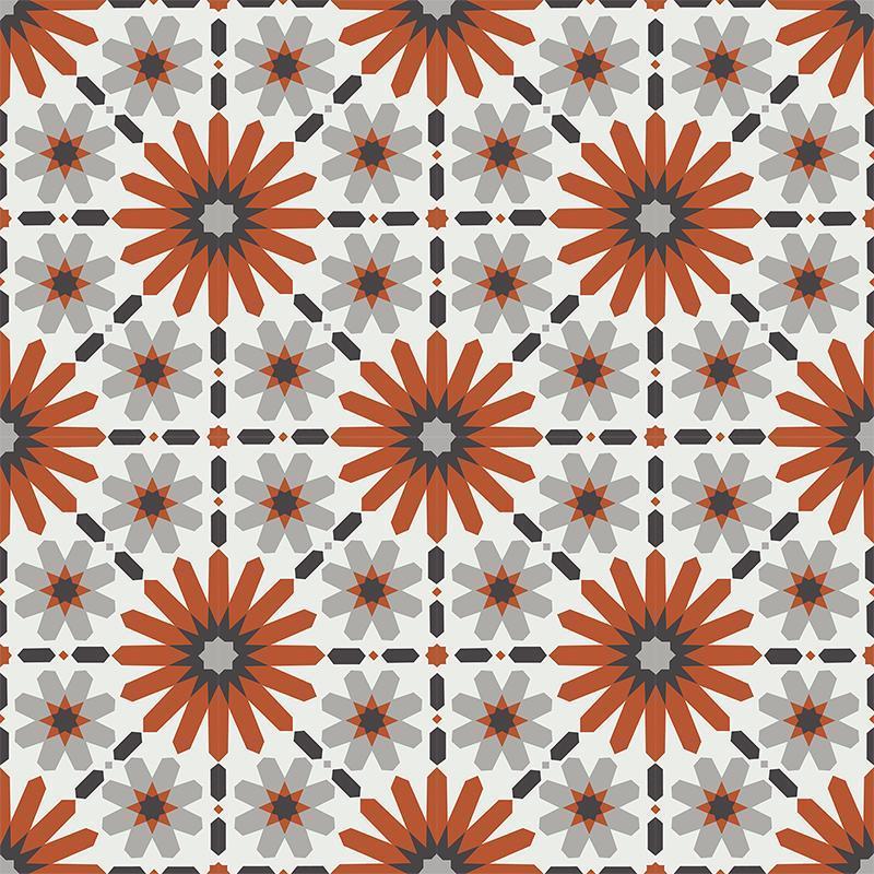 Gạch bông CTS 19.4(4-5-9-13)-16 viên - Encaustic cement tile CTS 19.4(4-5-9-13)-16 tiles