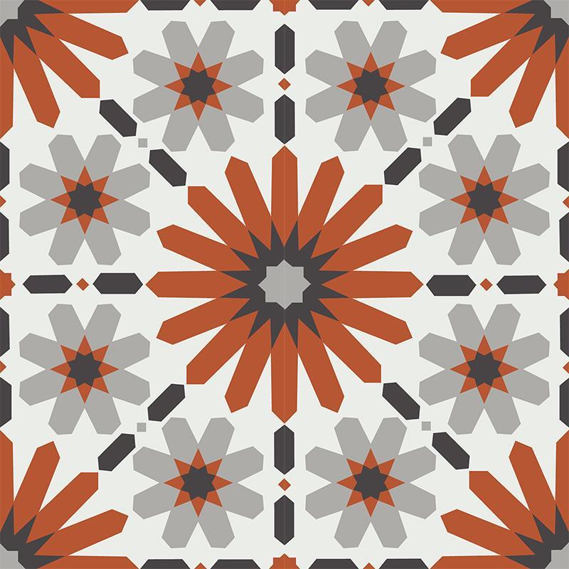 Gạch bông CTS 19.4(4-5-9-13)-4 viên - Encaustic cement tile CTS 19.4(4-5-9-13)-4 tiles