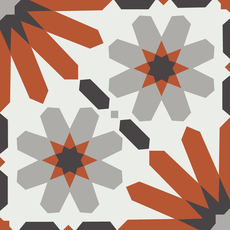 Gạch bông CTS 19.4(4-5-9-13) - Encaustic cement tile CTS 19.4(4-5-9-13)