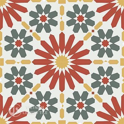 Gạch bông CTS 19.6(3-4-5-6)-4 viên - Encaustic cement tile CTS 19.6(3-4-5-6)-4 tiles