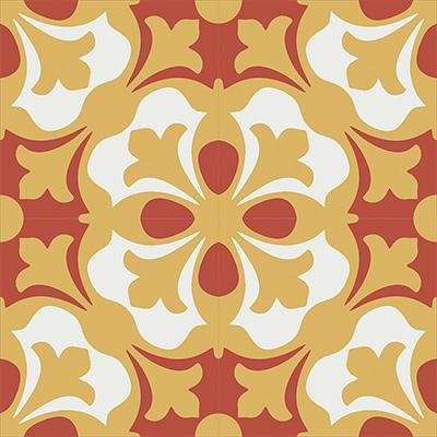 Gạch bông CTS 20.2(4-5-6)-4 viên - Encaustic cement tile CTS 20.2(4-5-6)-4 tiles
