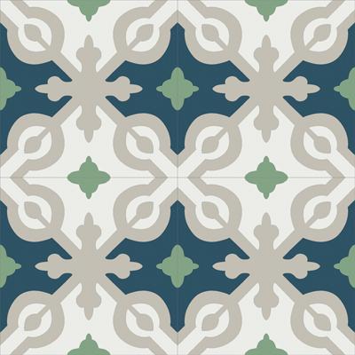 Gạch bông CTS 22.9(4-7-21-27)-4 viên - Encaustic cement tile CTS 22.9(4-7-21-27)-4 tiles