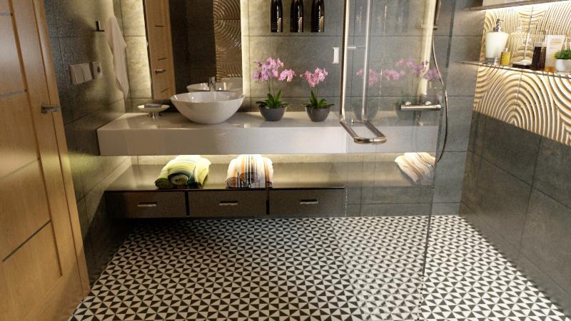 Gạch bông cts 34.3 lát nền nhà tắm