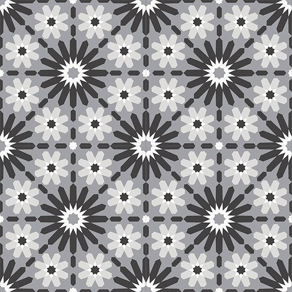 Gạch bông CTS 45.1(4-9-13-50) - 4 viên - Encaustic cement tile CTS 45.1(4-9-13-50)-4 tiles