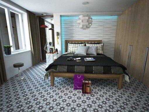 Gạch bông cts 45.1 lát nền phòng ngủ