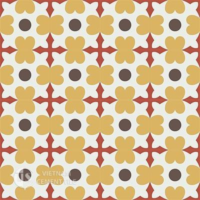 Gạch bông CTS 46.3(4-5-6-14)- 16 viên - Encaustic cement tile CTS 46.3(4-5-6-14)-16 tiles