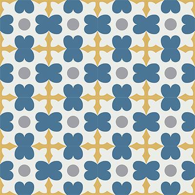 Gạch bông CTS 46.5(1-4-6-9)- 16 viên - Encaustic cement tile CTS 46.5(1-4-6-9)-16 tiles