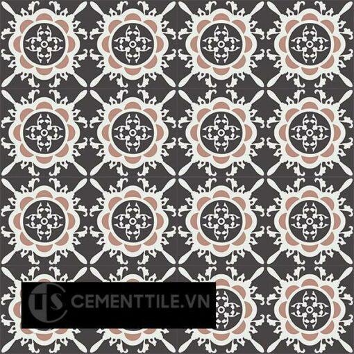 Gạch bông CTS 48.1(4-13-18) - 16 viên - Encaustic cement tile CTS 48.1(4-13-18)-16 tiles