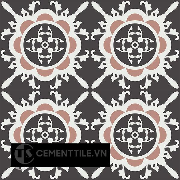 Gạch bông CTS 48.1(4-13-18) - 4 viên - Encaustic cement tile CTS 48.1(4-13-18)-4 tiles