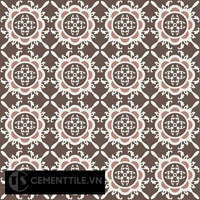 Gạch bông CTS 48.1(4-14-18)-16 viên - Encaustic cement tile CTS 48.1(4-14-18)-16 tiles