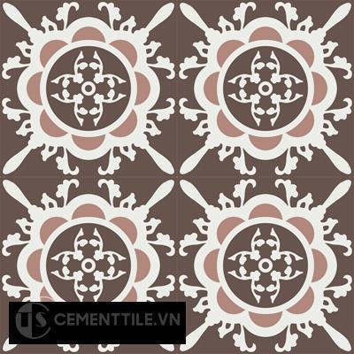 Gạch bông CTS 48.1(4-14-18)-4 viên - Encaustic cement tile CTS 48.1(4-14-18)-4 tiles