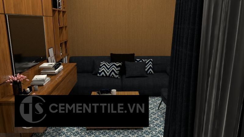 Gạch bông cts 51.6 lát nền phòng khách