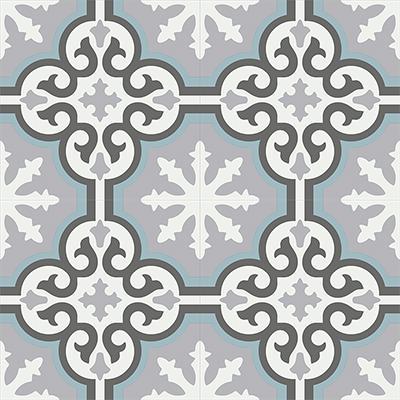 Gạch bông CTS 1.36(4-9-13-29) - 4 viên - Encaustic cement tile CTS 1.36(4-9-13-29)-4 tiles
