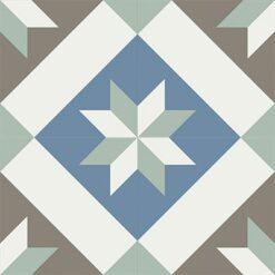 Gạch bông CTS 12.4(1-4-26-28) - 4 viên - Encaustic cement tile CTS 12.4(1-4-26-28)-4 tiles