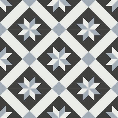 Gạch bông CTS 12.6(4-13-50) - 16 viên - Encaustic cement tile CTS 12.6(4-13-50)-16 tiles