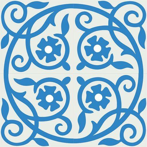 Gạch bông CTS 21.3(4-8) - 4 viên - Encaustic cement tile CTS 21.3(4-8)-4 tiles