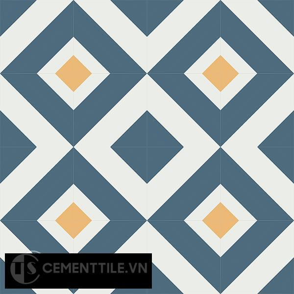 Gạch bông CTS 25.2(1-4-6) - 16 viên - Encaustic cement tile CTS 25.2(1-4-6)-16 tiles