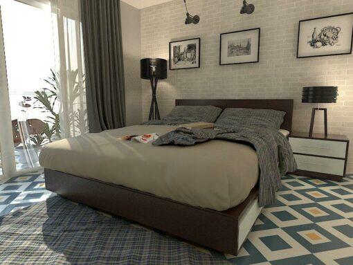 Gạch bông cts 235.1 lát nền phòng ngủ