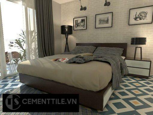 Gạch bông cts 25.2 lát nền phòng ngủ