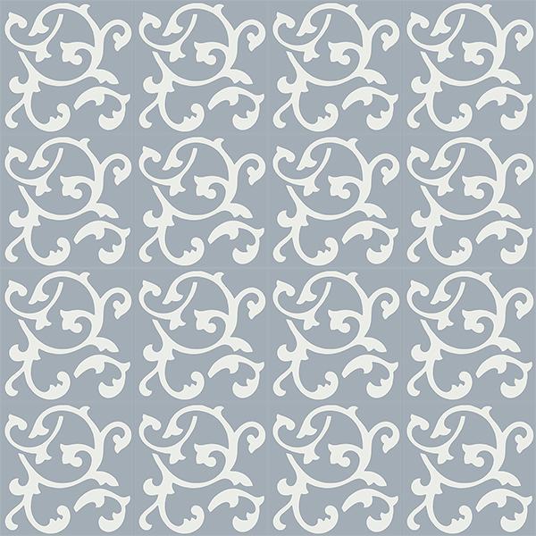 Gạch bông CTS 32.3(4-50) - 16 viên - Encaustic cement tile CTS 32.3(4-50)-16 tiles
