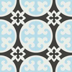 Gạch bông CTS 4.5(2-4-13) - 4 viên - Encaustic cement tile CTS 4.5(2-4-13)-4 tiles