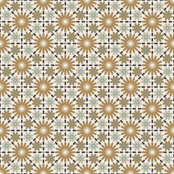 Gạch bông CTS 45.3(4-13-142-153) - 16 viên - Encaustic cement tile CTS 45.3(4-13-142-153)-16 tiles
