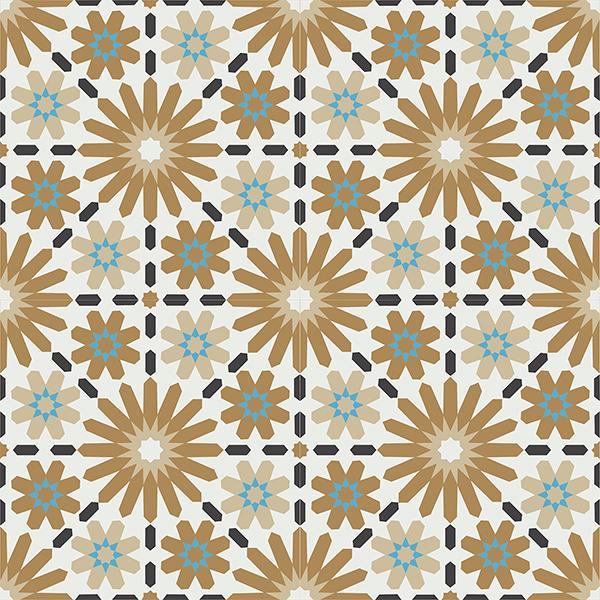 Gạch bông CTS 45.3(4-13-142-153) - 4 viên - Encaustic cement tile CTS 45.3(4-13-142-153)-4 tiles