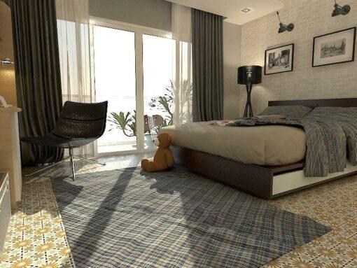 Gạch bông cts 45.3 trang trí phòng ngủ