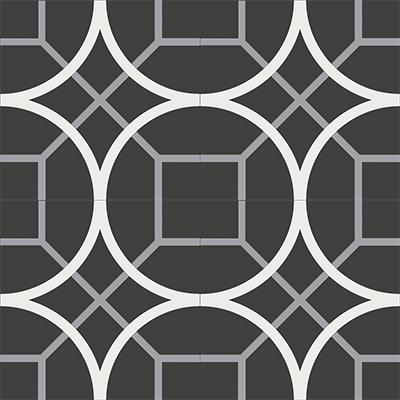 Gạch bông CTS 58.2(4-9-13) - 4 viên - Encaustic cement tile CTS 58.2(4-9-13)-4 tiles