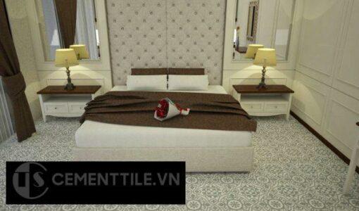 Gạch bông CTS 60.4 lát nền phòng ngủ