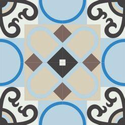 Gạch bông CTS 83.1(2-4-8-12-13-14) - 4 viên - Encaustic cement tile CTS 83.1(2-4-8-12-13-14)-4 tiles