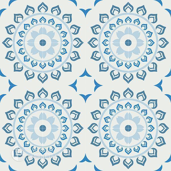 Gạch bông CTS 90.1(2-4-8-51) - 16 viên - Encaustic cement tile CTS 90.1(2-4-8-51)-16 tiles