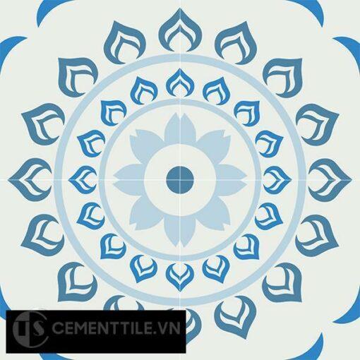 Gạch bông CTS 90.1(2-4-8-51) - 4 viên - Encaustic cement tile CTS 90.1(2-4-8-51)-4 tiles