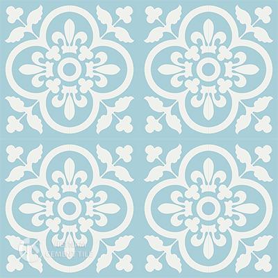 Gạch bông CTS 98.4(4-20) - 16 viên - Encaustic cement tile CTS 98.4(4-20)-16 tiles