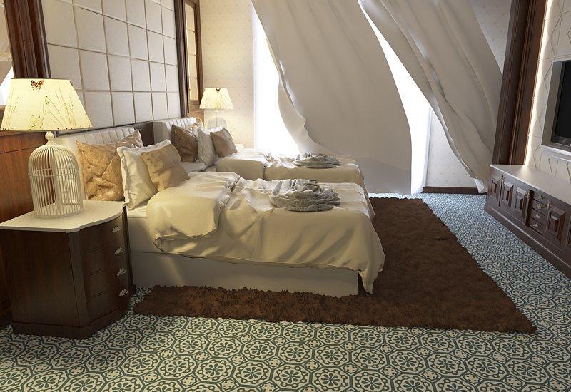 Gạch bông cts 29.2 lát nền phòng ngủ