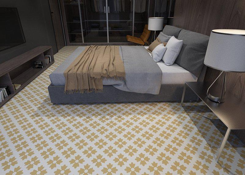Gạch bông cts 114.2 lát nền phòng ngủ