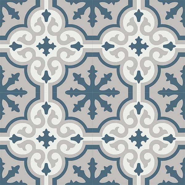 Gạch bông CTS 1.16(1-4-9) - 4 viên - Encaustic cement tile CTS 1.16(1-4-9)-4 tiles