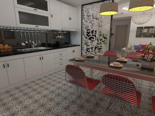 Gạch bông cts 1.33 lát nền nhà bếp