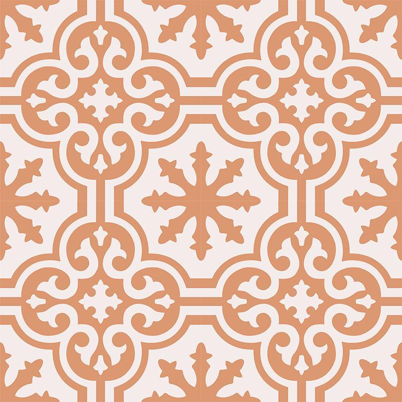 Gạch bông CTS 1.34(4-37) - 4 viên - Encaustic cement tile CTS 1.34(4-37)-4 tiles