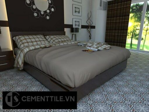 Gạch bông cts 1.38 lát nền phòng ngủ