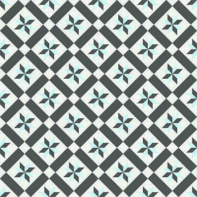 Gạch bông CTS 11.3(2-4-13) - 16 viên - Encaustic cement tile CTS 11.3(2-4-13)-16 tiles