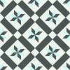 Gạch bông CTS 11.3(2-4-13) - 4 viên - Encaustic cement tile CTS 11.3(2-4-13)-4 tiles