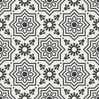 Gạch bông CTS 113.7(4-13) - 16 tiles - Encaustic cement tile CTS 113.7(4-13)-16 tiles
